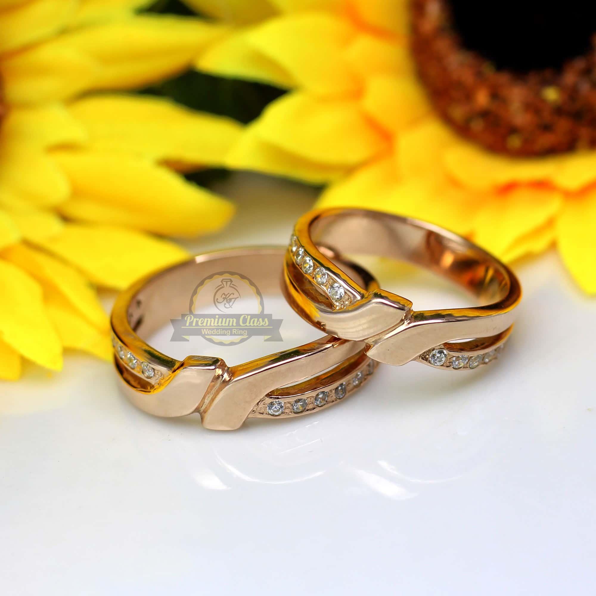 Cincin Kawin Emas Rose Gold Couple Murah Dan Berkualitas