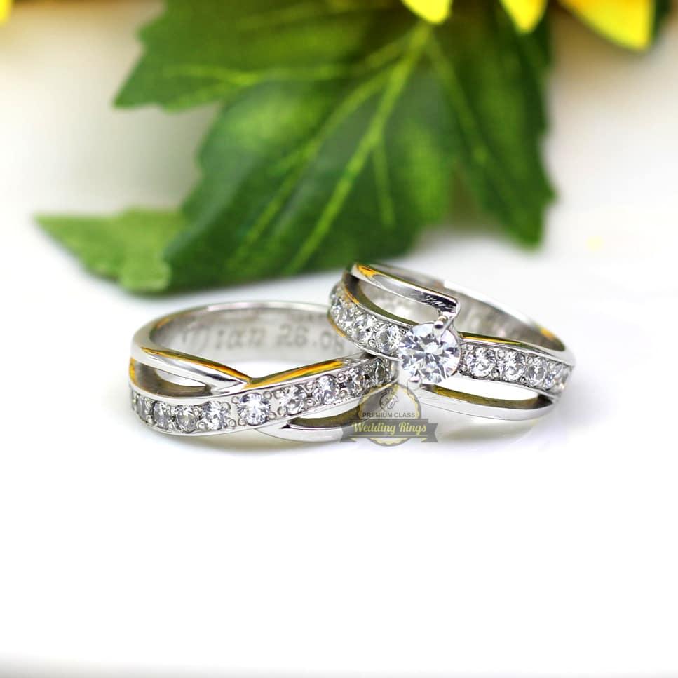 Cincin Kawin Emas Putih Couple Berkualitas Dan Begaransi
