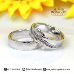 Cincin Kawin Palladium Model Best Seller P167WG