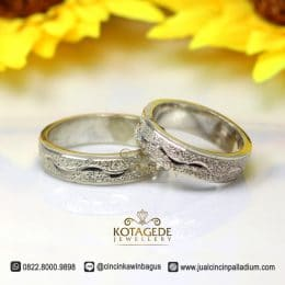 Cincin Couple Palladium Doff Cukit P174WG
