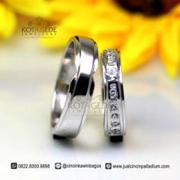 Cincin Kawin Platinum Model Best Seller Jogja Pt120WG