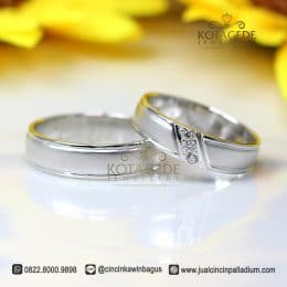 Cincin Kawin Palladium Simple Best Seller P176WG