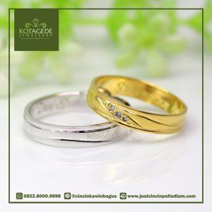 Cincin Kawin Palladium dan Yellow Gold 043