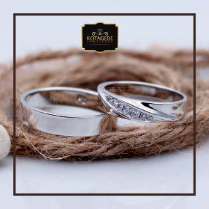 Cincin Kawin Atau Cincin Tunangan Palladium Emas Putih P034WG