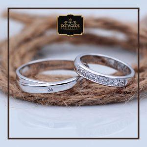Cincin Kawin Atau Cincin Tunangan Palladium Emas Putih P058WG