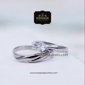 Cincin Kawin Tunangan Platinum Emas Putih PT0023WG