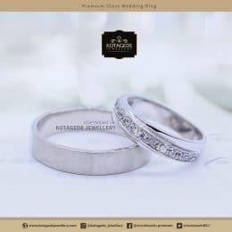 Cincin Kawin Tunangan Palladium Emas Putih PD0092WG