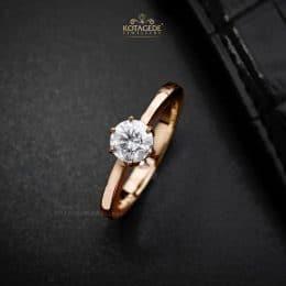 Cincin Kawin Tunangan Rose Gold Solitaire RG0339
