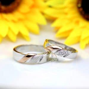 Cincin Kawin Couple Emas Putih Murah M146WG