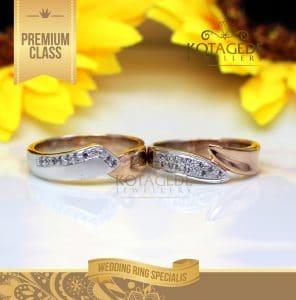 Cincin Couple Emas Rose Gold Silang M153RG