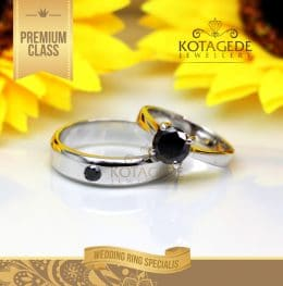 Cincin Kawin Platinum Black Diamond Pt117WG