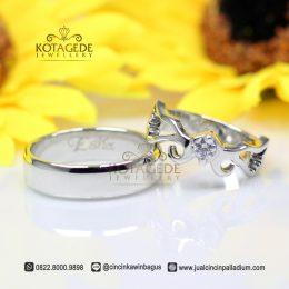 Cincin Kawin Kombinasi Platinum dan Emas Putih Jogja C029