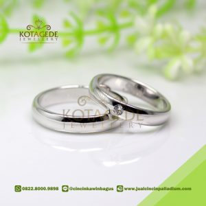 Cincin Kawin Palladium Simple Best Seller P178WG