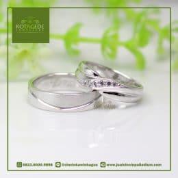 Cincin Kawin Silang Emas Putih Palladium P004WG