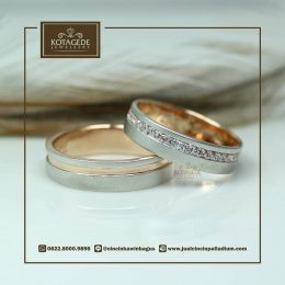 Cincin Kawin Atau Cincin Tunangan Couple Rose Gold P011RG