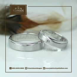 Cincin Kawin Atau Cincin Tunangan Palladium P042WG