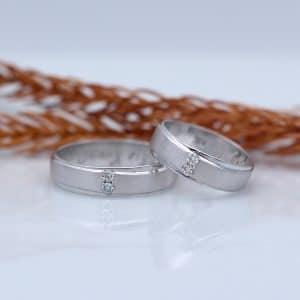 Cincin Kawin Atau Cincin Tunangan Palladium Emas Putih P037WG