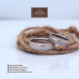 cincin dengan lis rosegold
