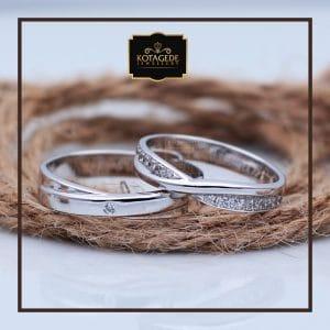 Cincin Kawin Atau Cincin Tunangan Palladium Emas Putih P081WG