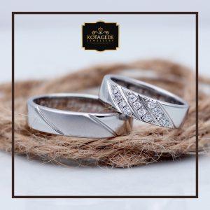 Cincin Kawin Atau Cincin Tunangan Palladium Emas Putih P084WG