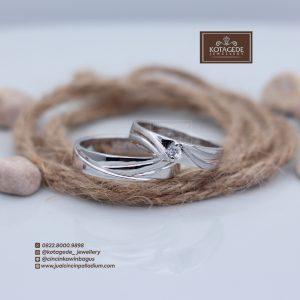 Cincin Kawin Atau Cincin Tunangan Palladium Emas Putih P085WG