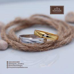 cincin simpel emas glossy