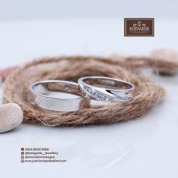 cincin kawin tunangan nikah Palladium Emas Putih P0010WG