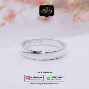Cincin Kawin Tunangan Pria Palladium Putih Simple PD0057