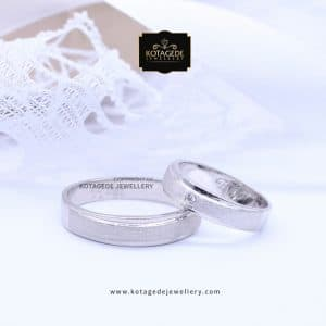Cincin Kawin Tunangan Palladium Couple Elegant PD0068