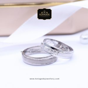 Cincin Kawin Tunangan Palladium Couple PD0033