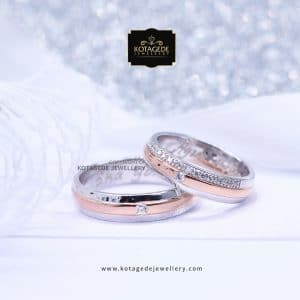 Cincin Kawin Tunangan Palladium Rose Gold PD0013RG