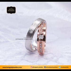 Cincin Kawin Tunangan Palladium Rose Gold PD0076RG