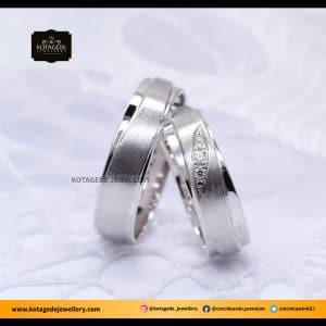 Cincin Kawin Tunangan Platinum Palladium Couple PT0047PD