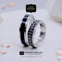 Cincin Kawin Tunangan Palladium Black Diamond PD0125PD