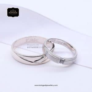 Cincin Kawin Tunangan Palladium Couple PD0113PD