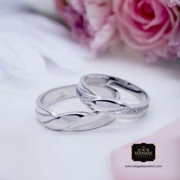 Cincin Kawin Tunangan Palladium Couple PD0122PD