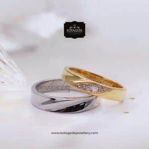 Cincin Kawin Tunangan Palladium Emas Kuning PD0111YG