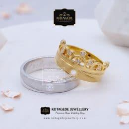 Cincin Kawin Tunangan Palladium Emas Kuning PD0127YG