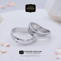 Cincin Kawin Tunangan Palladium Emas Putih Couple PD0128WG