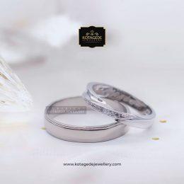 Cincin Kawin Tunangan Palladium Emas Putih PD0109WG