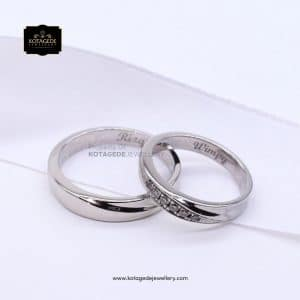 Cincin Kawin Tunangan Palladium Simple PD0115PD