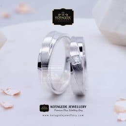 Cincin Kawin Tunangan Platinum Palladium Couple PT0126PD