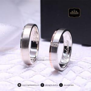 Cincin Kawin Tunangan Couple Palladium Emas Putih PD0157WG