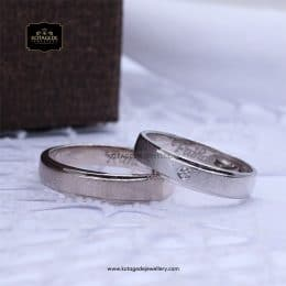 Cincin Kawin Tunangan Doff Couple Palladium PD0151PD