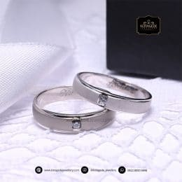 Cincin Kawin Tunangan Doff Couple Palladium PD0156PD