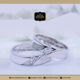 Cincin Kawin Tunangan Palladium Platinum Couple PD0134PT