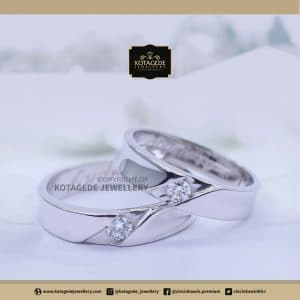 Cincin Kawin Tunangan Palladium Couple PD0134PD