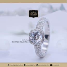 Cincin Kawin Tunangan Palladium Diamond Elegant PD0133