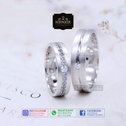 Cincin Kawin Tunangan Palladium Emas Putih Couple PD0130WG