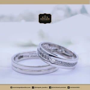 Cincin Kawin Tunangan Palladium Emas Putih PD0136WG